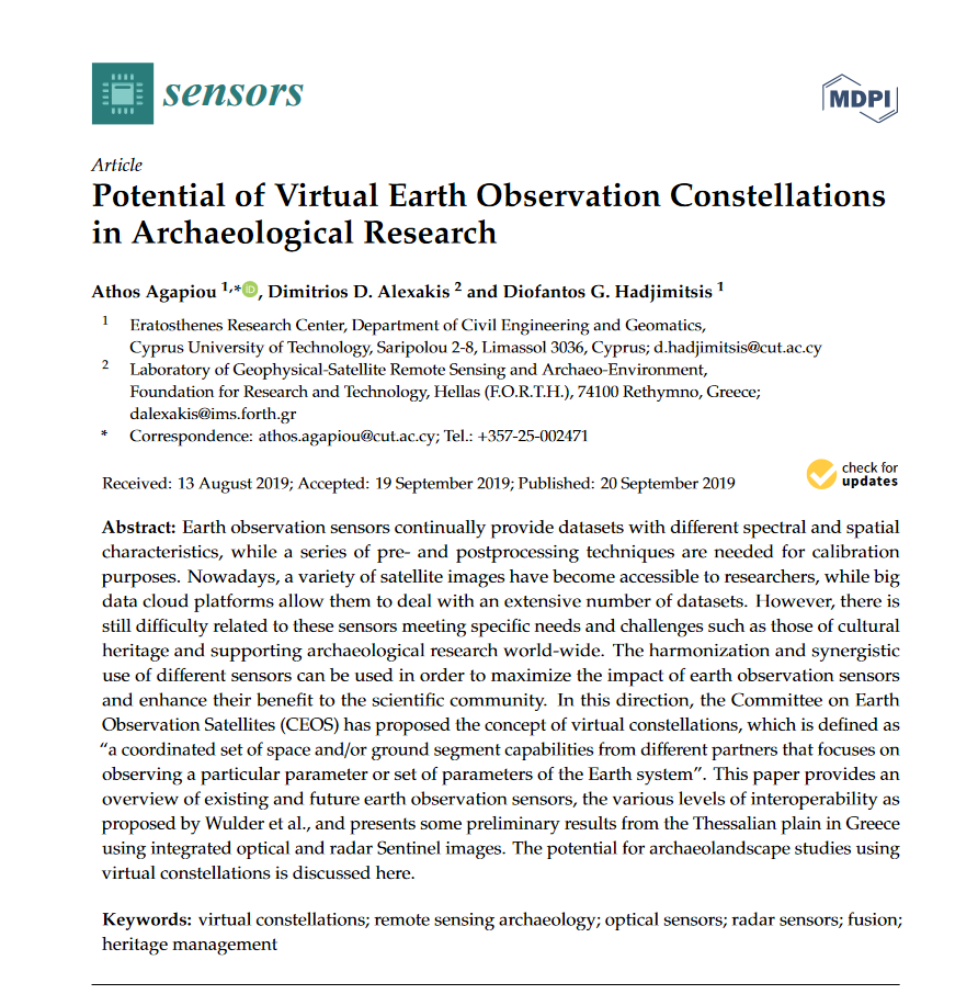 Potential of virtual earth observation constellations in archaeological research